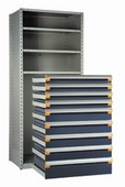 Bank of Modular Drawers (shelving not included)