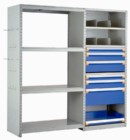 Open Shelving with Modular Drawers