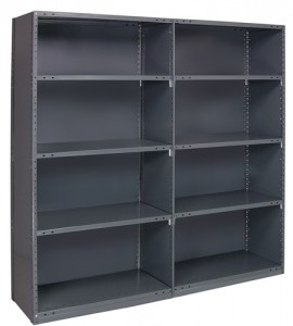 Industrial Clip Shelving - Closed Steel Shelving