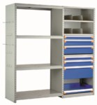 Spider Shelving System by Rousseau Metal
