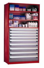 Spider Shelving with Drawers